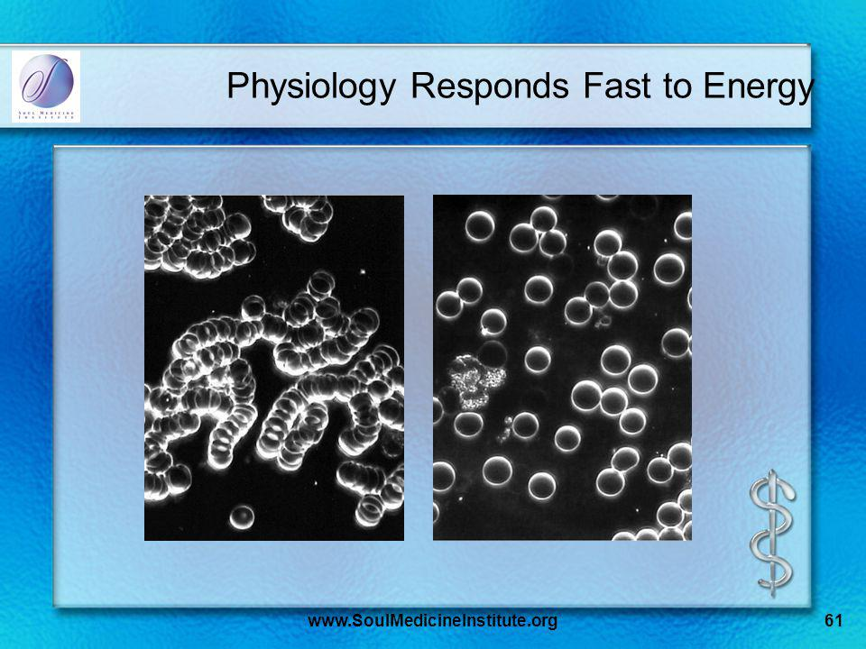 www.SoulMedicineInstitute.org61 Physiology Responds Fast to Energy