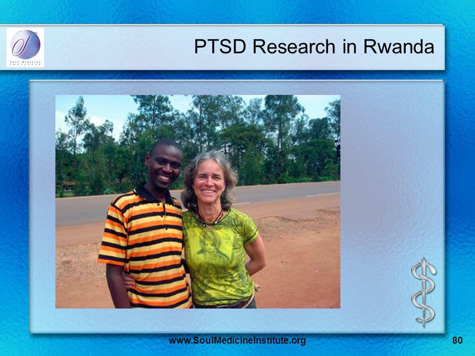 www.SoulMedicineInstitute.org80 PTSD Research in Rwanda