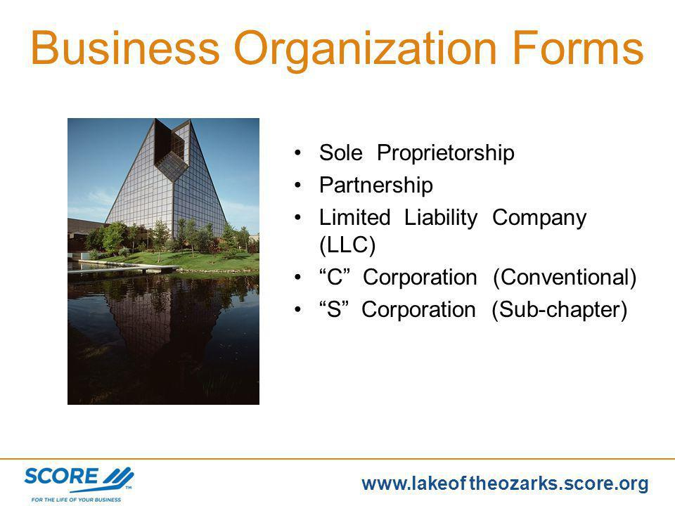 www.score.org www.lakeof theozarks.score.org Naming your business - Considerations –Business name includes description of type of business (example: A