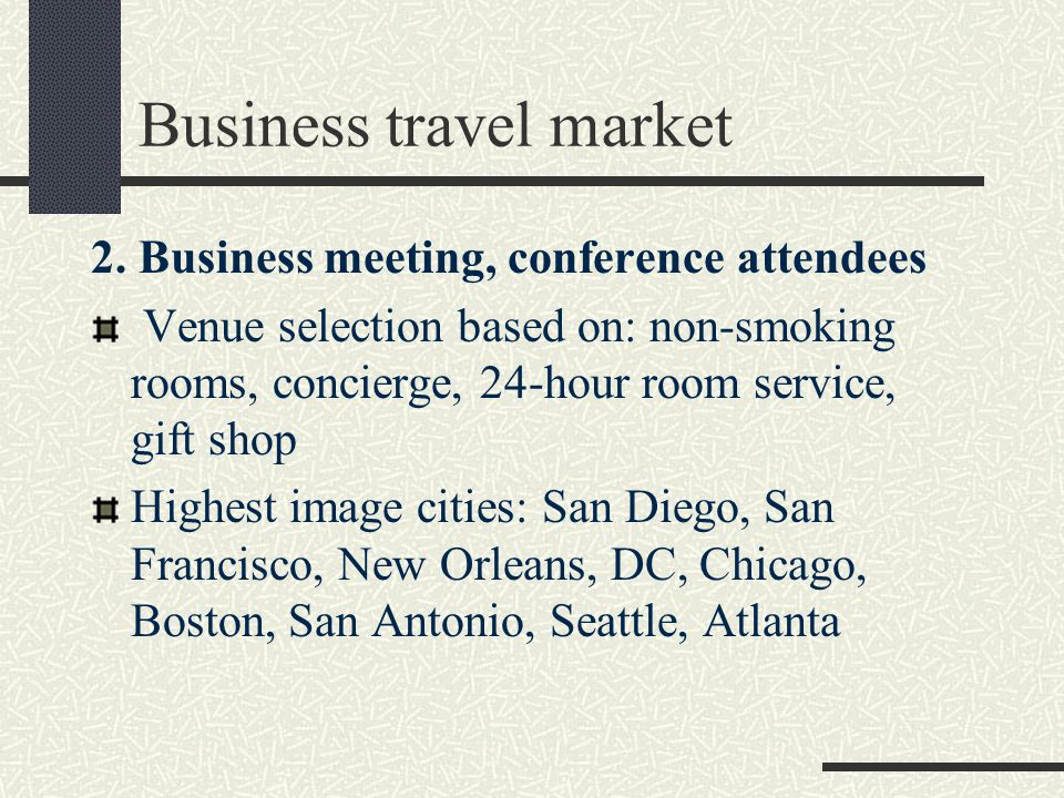 Business travel market 2.