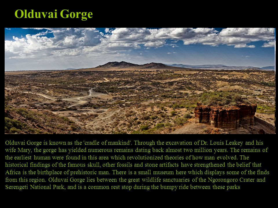 Olduvai Gorge is known as the cradle of mankind .
