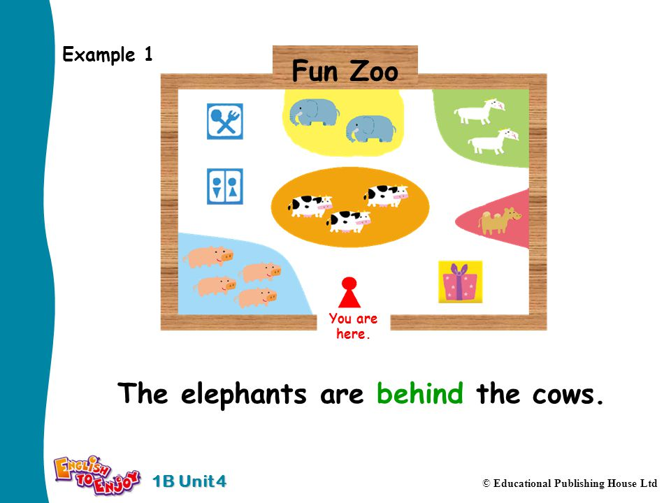 1B Unit 4 © Educational Publishing House Ltd Example 1 You are here.