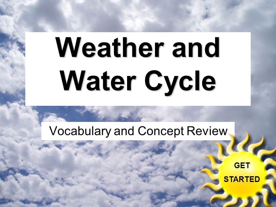 Weather and Water Cycle Vocabulary and Concept Review GET STARTED