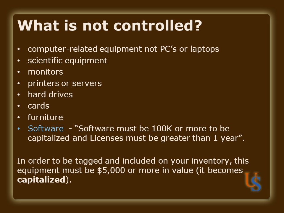 computer-related equipment not PCs or laptops scientific equipment monitors printers or servers hard drives cards furniture Software - Software must b