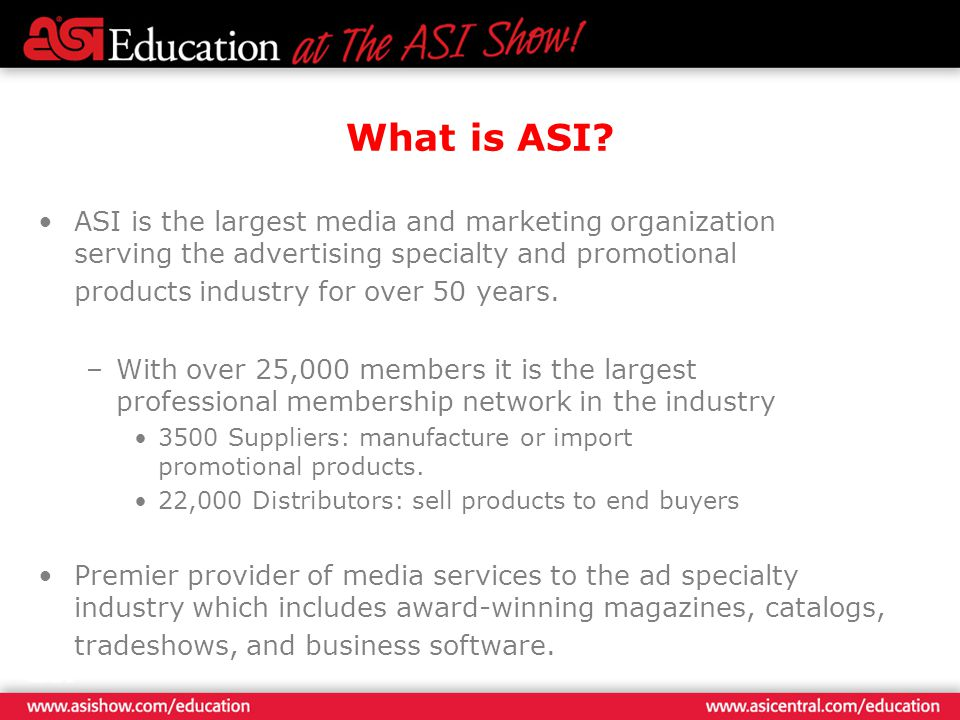 What is ASI.