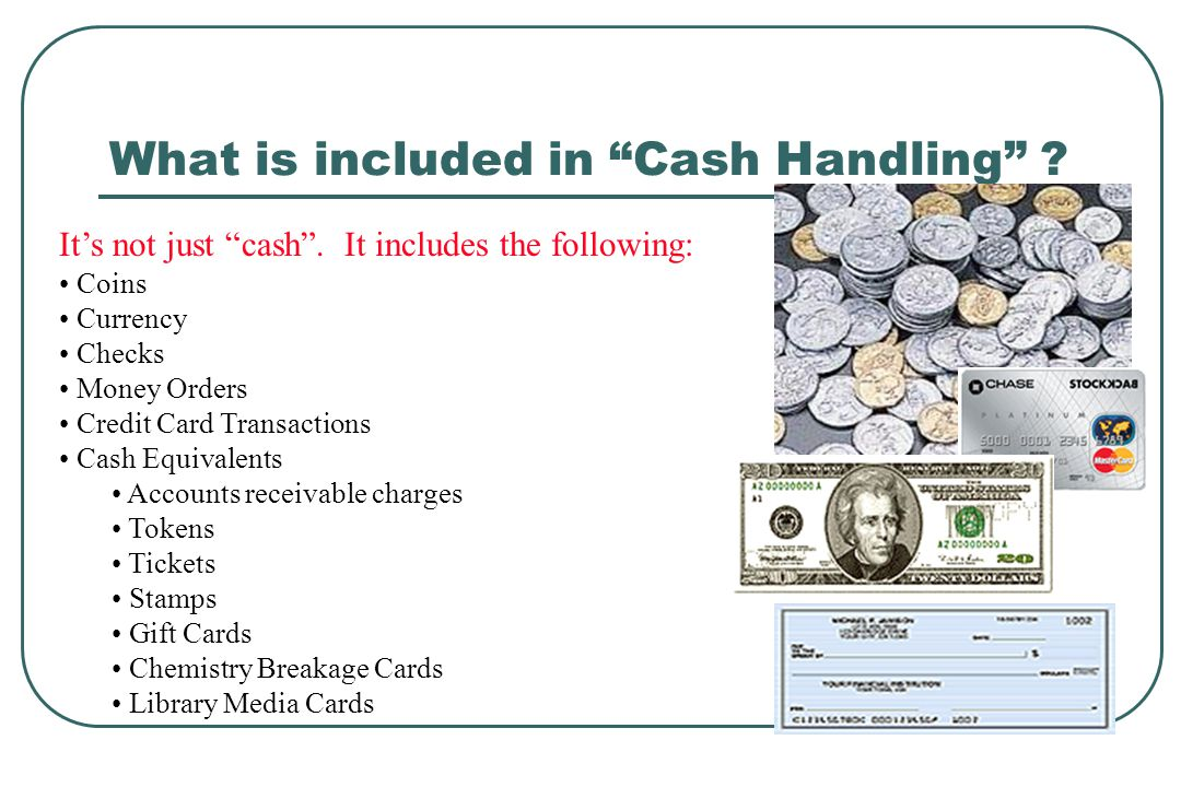 How is the cash going to be secured.WHILE IN USE…..