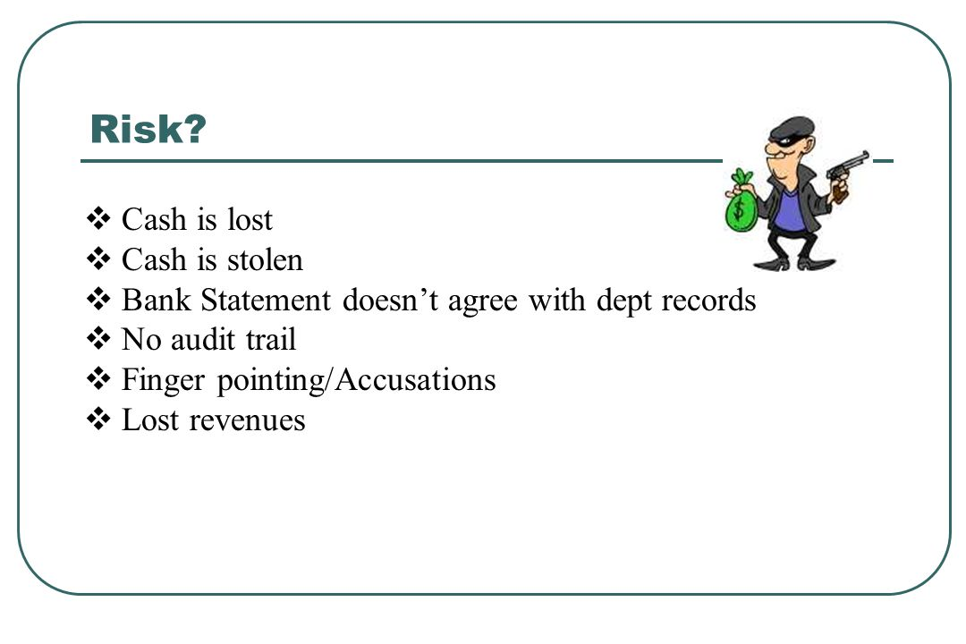 Keeping Records - Record Retention The following documents must be kept in the department for the current year plus three prior years: Cash receipt information Carbon copy of a pre-numbered receipt Sales log Deposit slips Cash over/short record Credit card receipts must be kept 18 months.