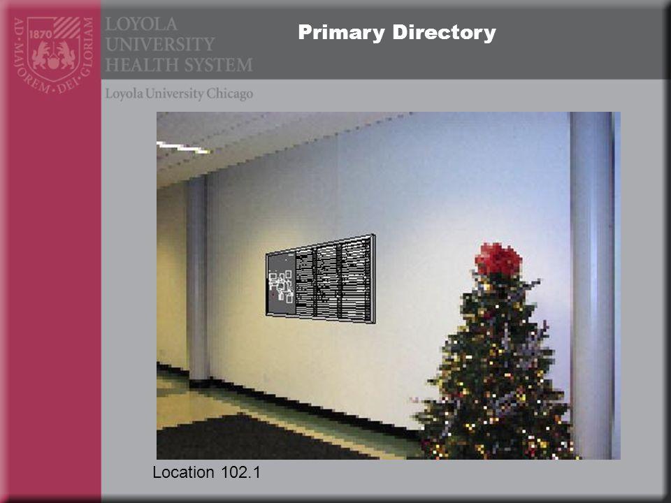 Primary Directory Location 102.1