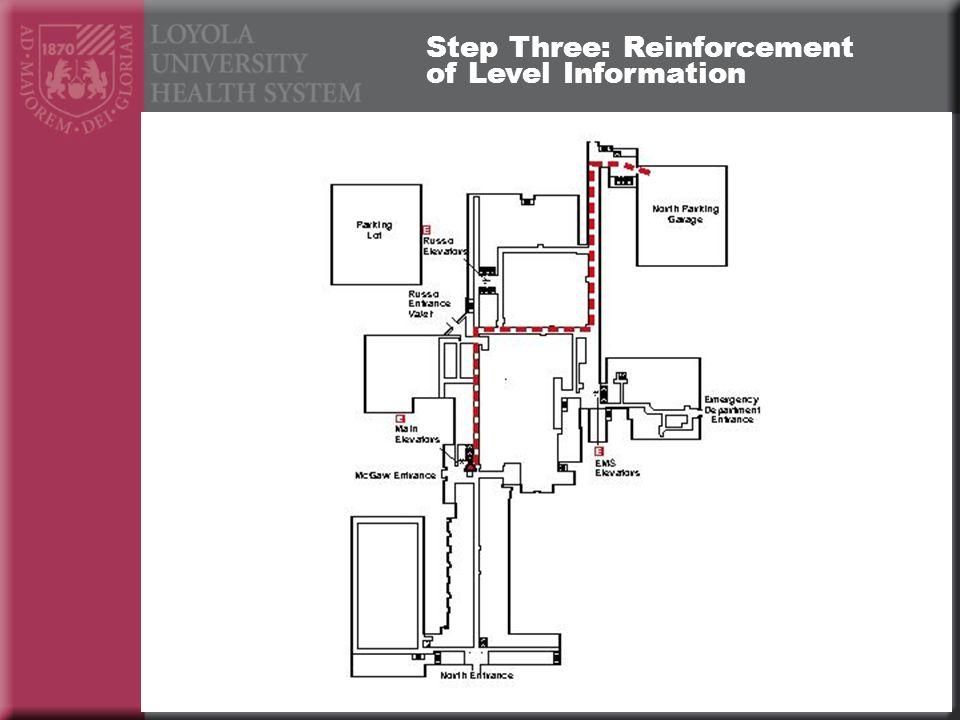 Step Three: Reinforcement of Level Information