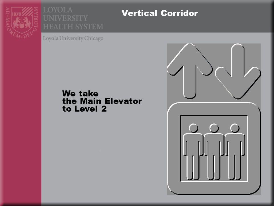 Vertical Corridor We take the Main Elevator to Level 2