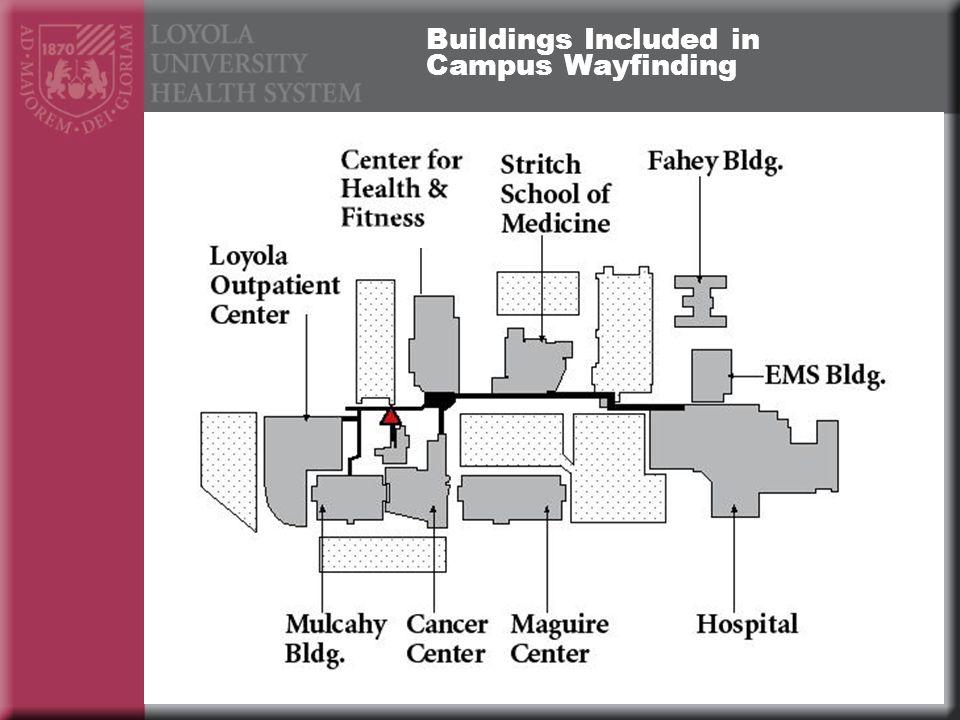 Buildings Included in Campus Wayfinding