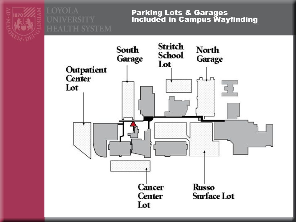 Parking Lots & Garages Included in Campus Wayfinding