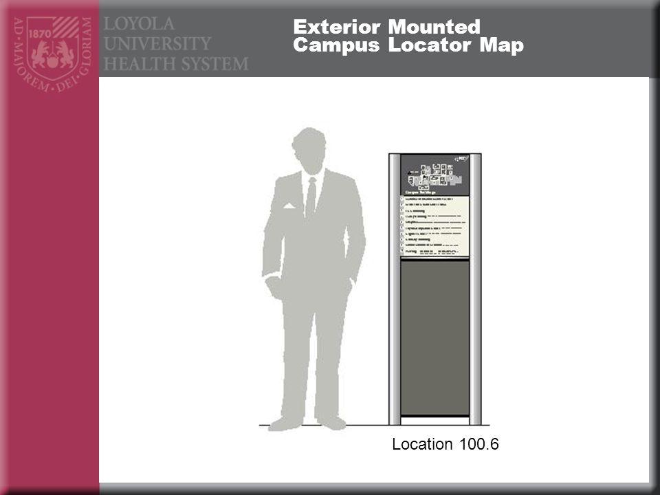Exterior Mounted Campus Locator Map Location 100.6