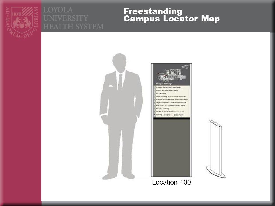 Freestanding Campus Locator Map Location 100