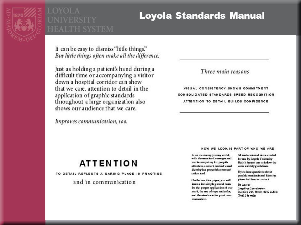 Loyola Standards Manual