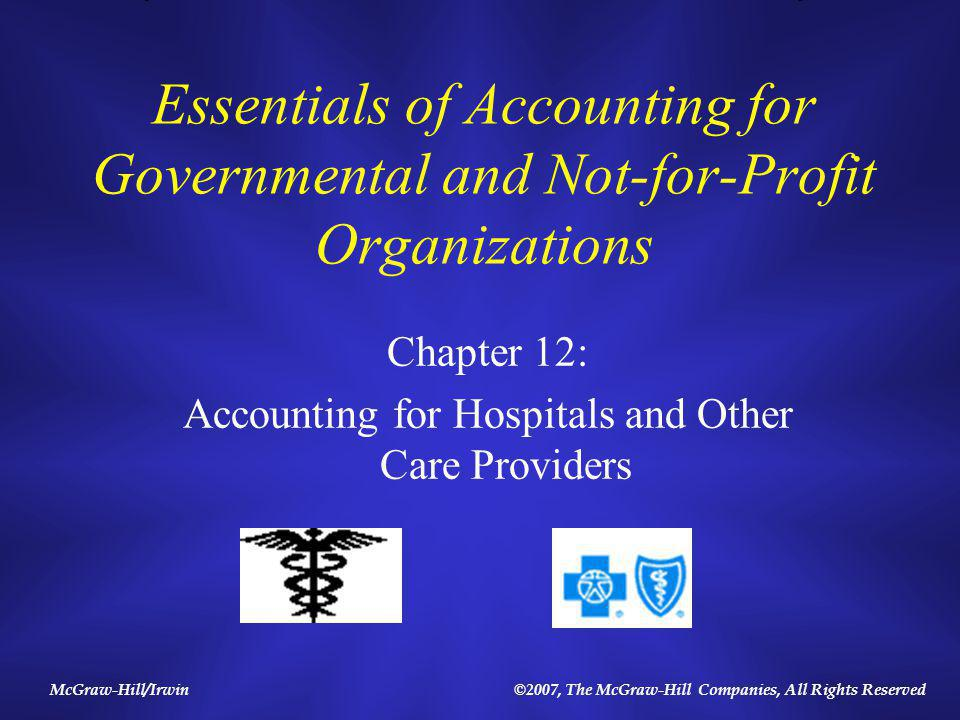 12-2 Overview of Chapter 12 Who has standard setting authority.
