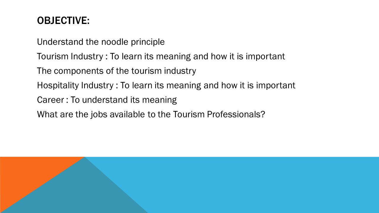 TOURISM PROFESSIONALS: A BREAKTHROUGH IN THE CAREERS AND TRENDS OF THE HOSPITALITY AND TOURISM INDUSTRY CAREERS IN THE TOURISM AND HOSPITALITY INDUSTR