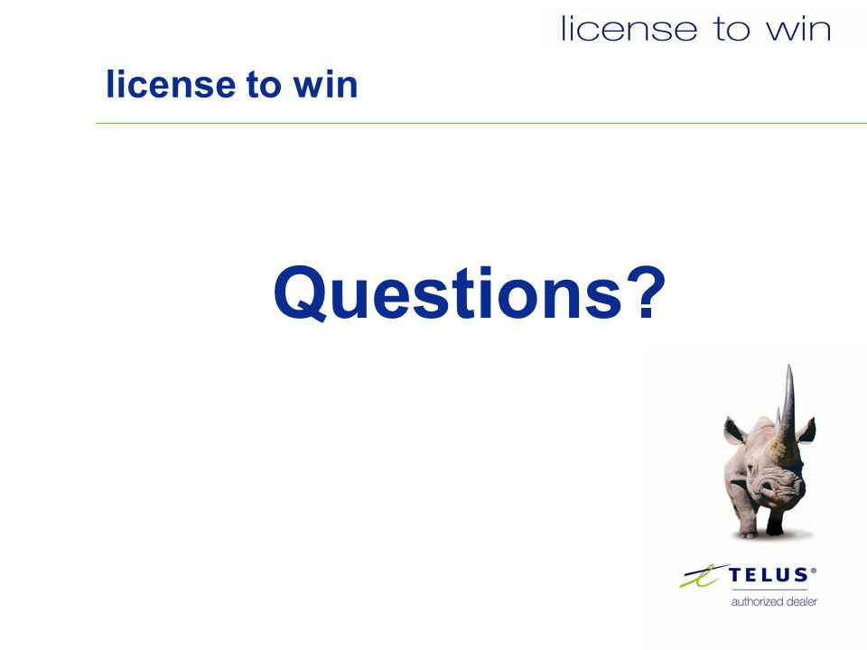 license to win Questions