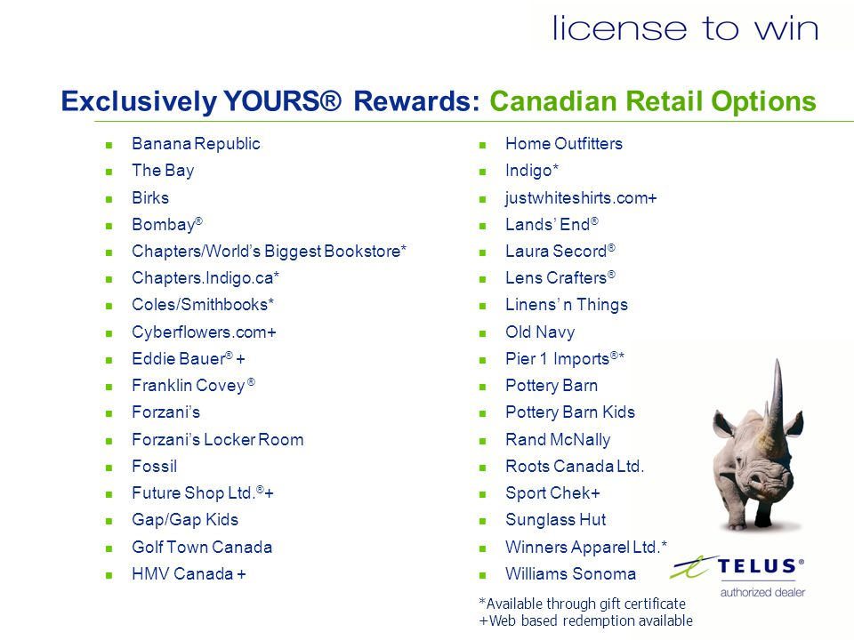 Exclusively YOURS® Rewards: U.S.