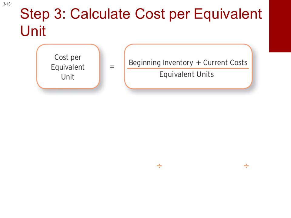 Step 3: Calculate Cost per Equivalent Unit ÷÷ 3-16