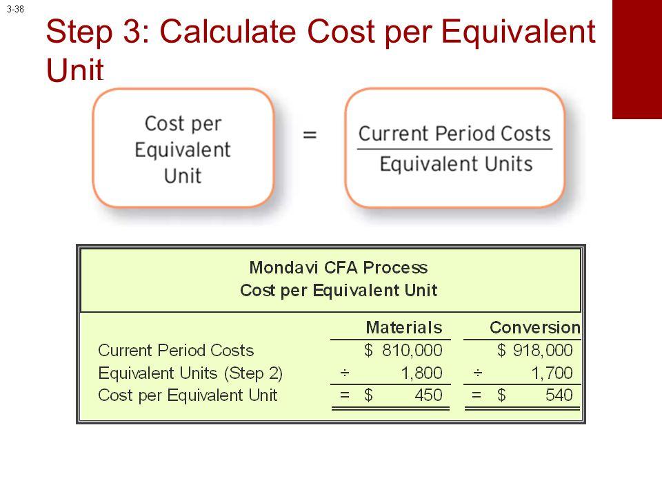 Step 3: Calculate Cost per Equivalent Unit 3-38