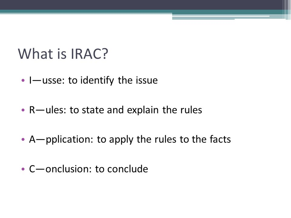 What is IRAC.
