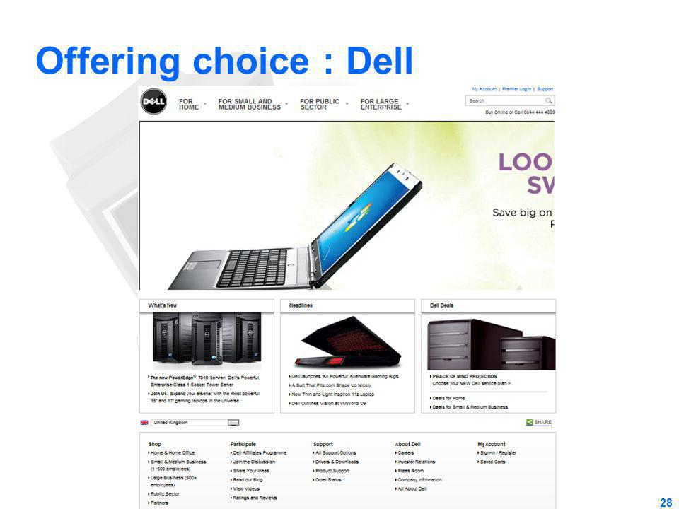 Offering choice : Dell 28