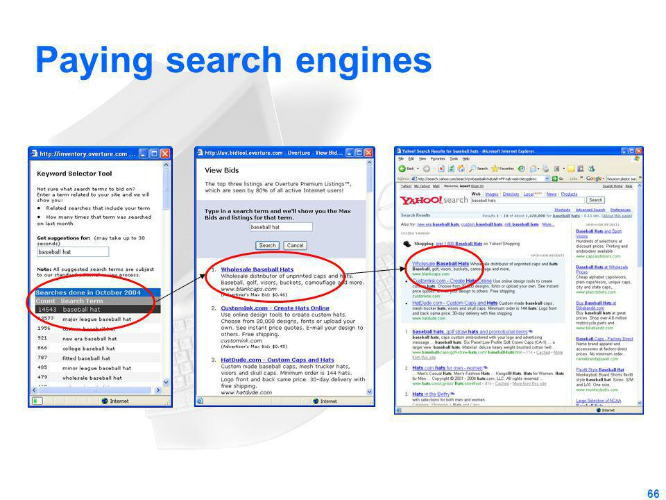 Paying search engines 66