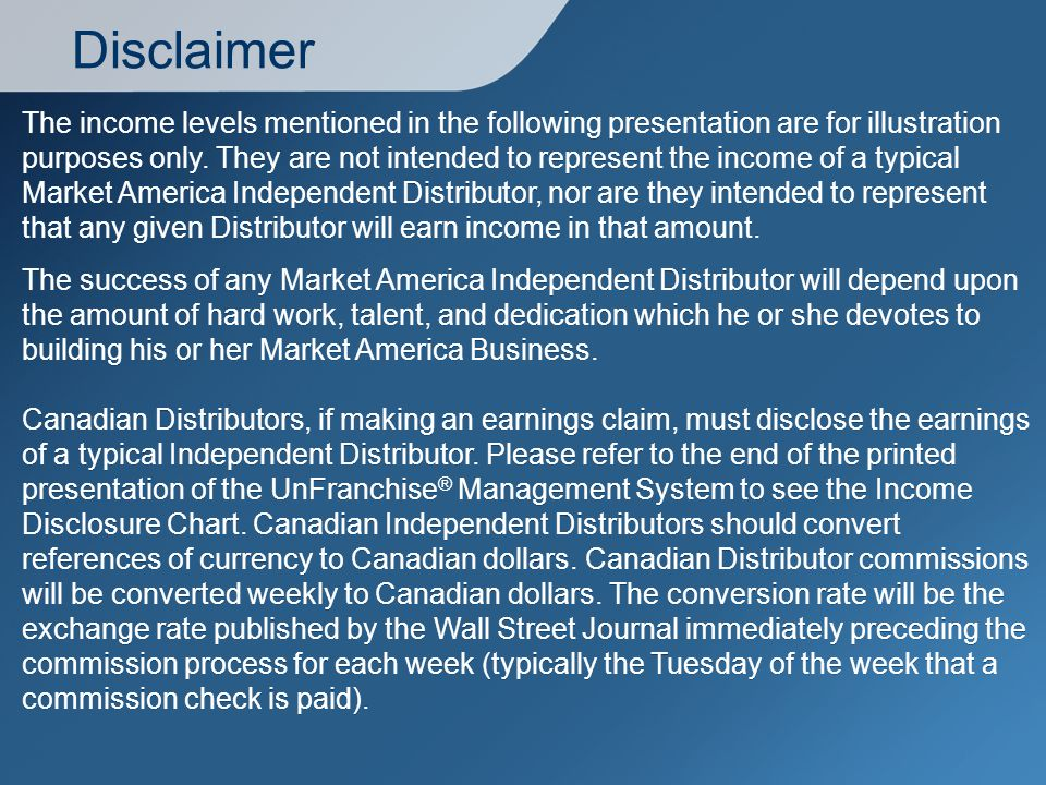 Disclaimer The income levels mentioned in the following presentation are for illustration purposes only.