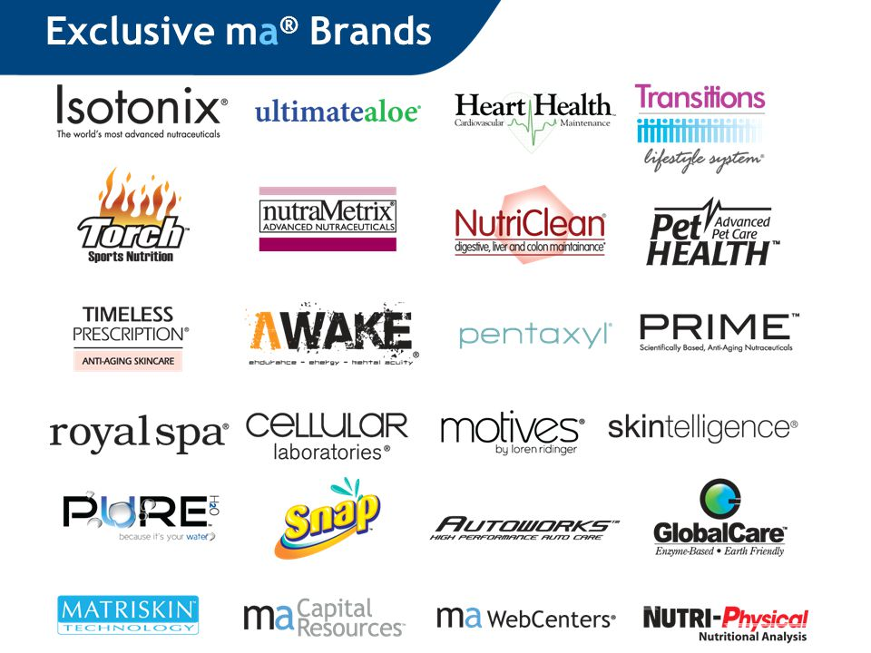 Exclusive ma ® Brands