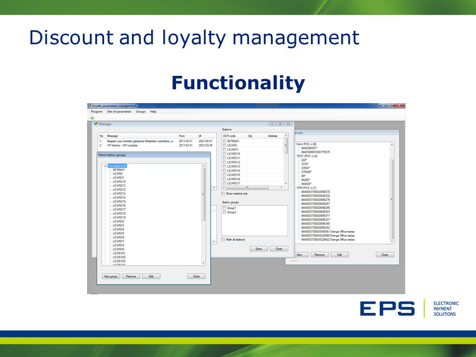 Discount and loyalty management Functionality