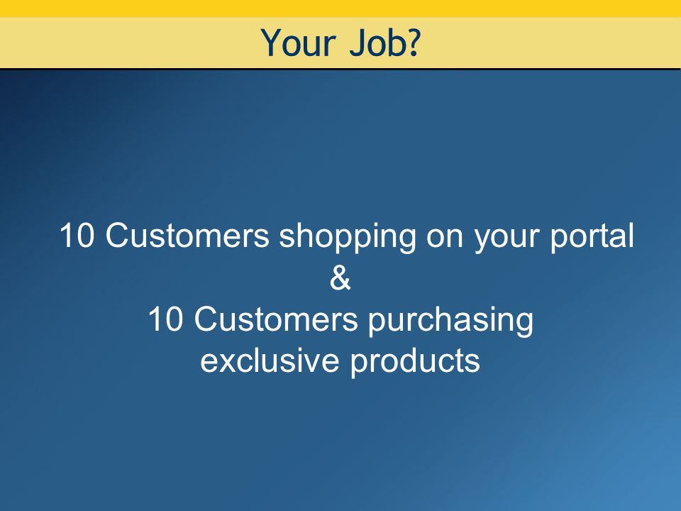 Why shop on your portal.