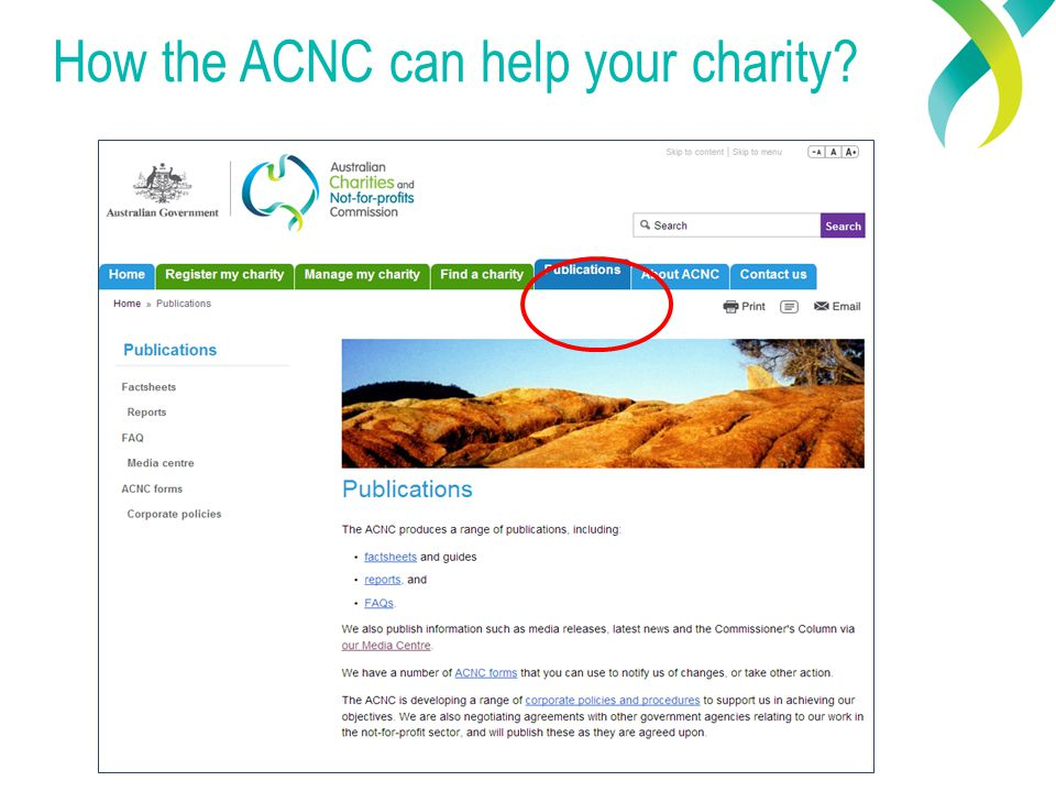 How the ACNC can help your charity
