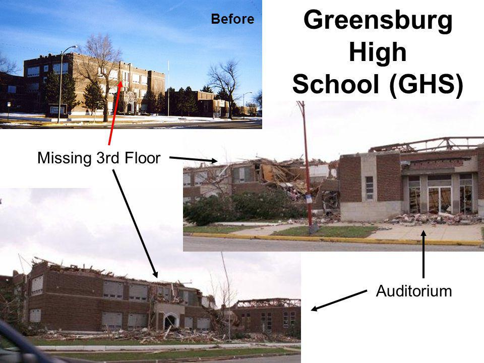 Missing 3rd Floor Auditorium Before Greensburg High School (GHS)