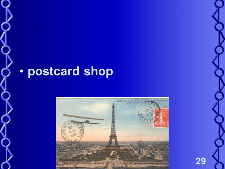 29 postcard shop