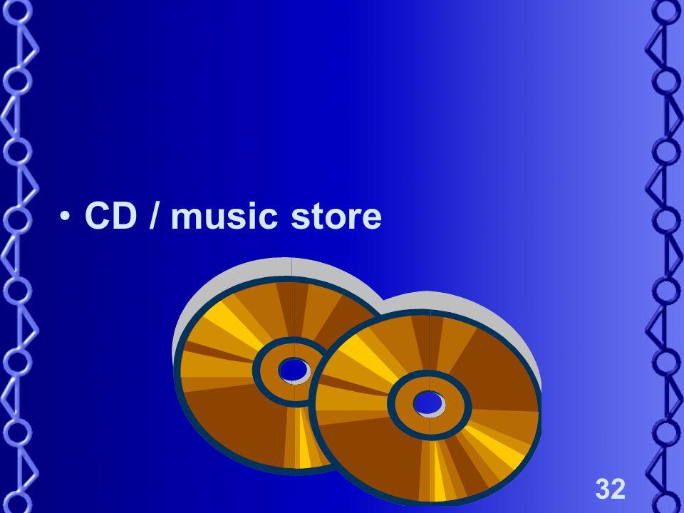 32 CD / music store