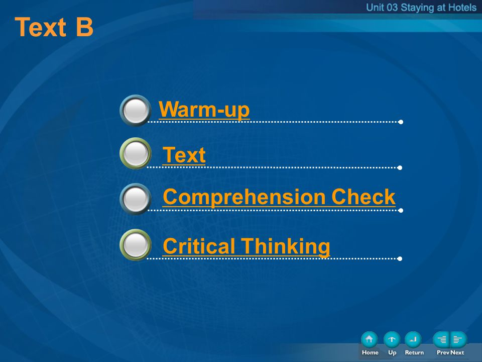Text B 33 Warm-up Text Comprehension Check Critical Thinking