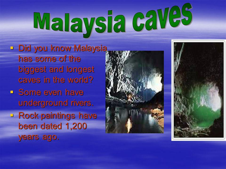 Did you know Malaysia has some of the biggest and longest caves in the world.