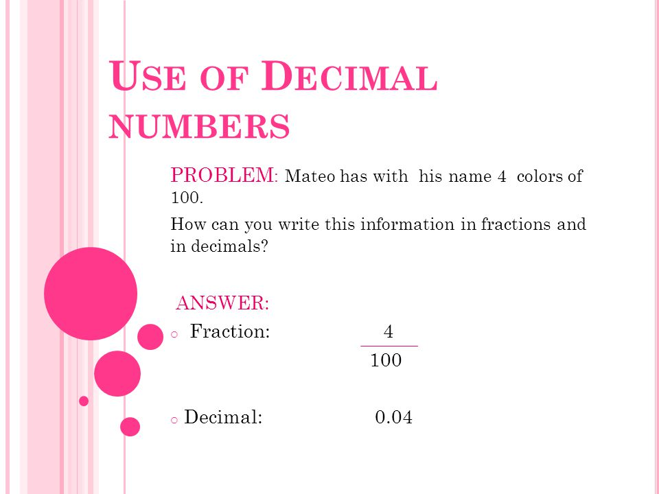 PROBLEM : Mateo has with his name 4 colors of 100.
