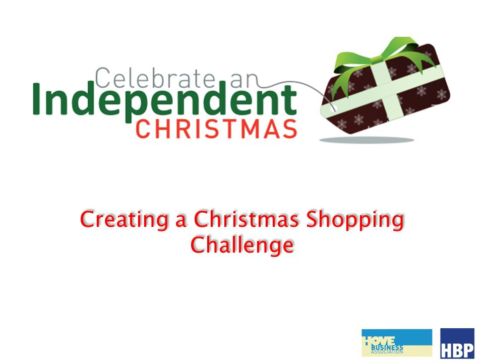 Creating a Christmas Shopping Challenge