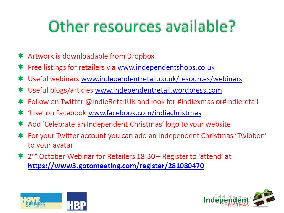 Other resources available.