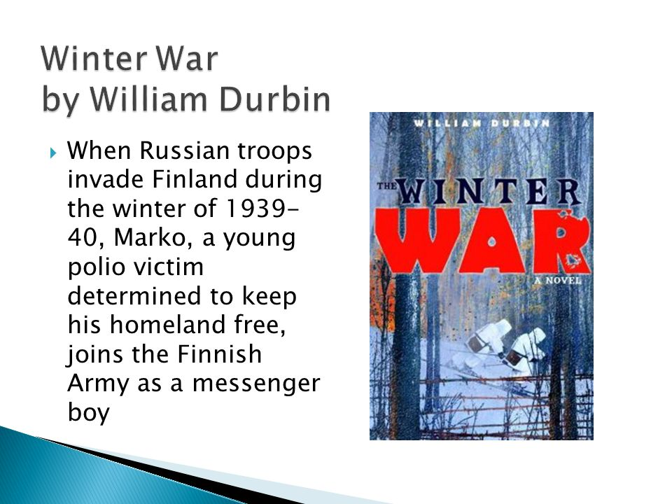 When Russian troops invade Finland during the winter of 1939- 40, Marko, a young polio victim determined to keep his homeland free, joins the Finnish Army as a messenger boy