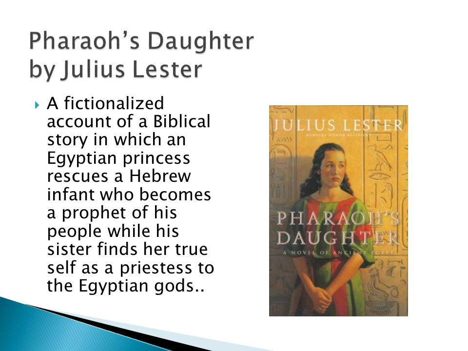 A fictionalized account of a Biblical story in which an Egyptian princess rescues a Hebrew infant who becomes a prophet of his people while his sister finds her true self as a priestess to the Egyptian gods..