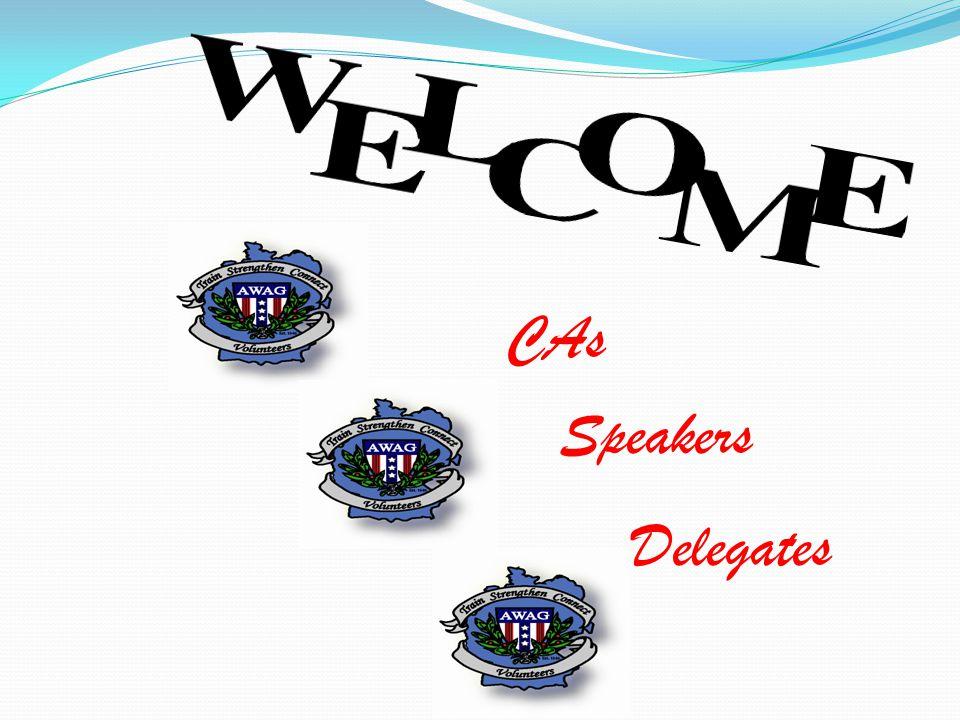 Delegates Speakers CAs