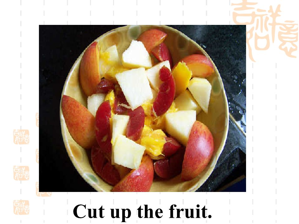 Peel the fruit.