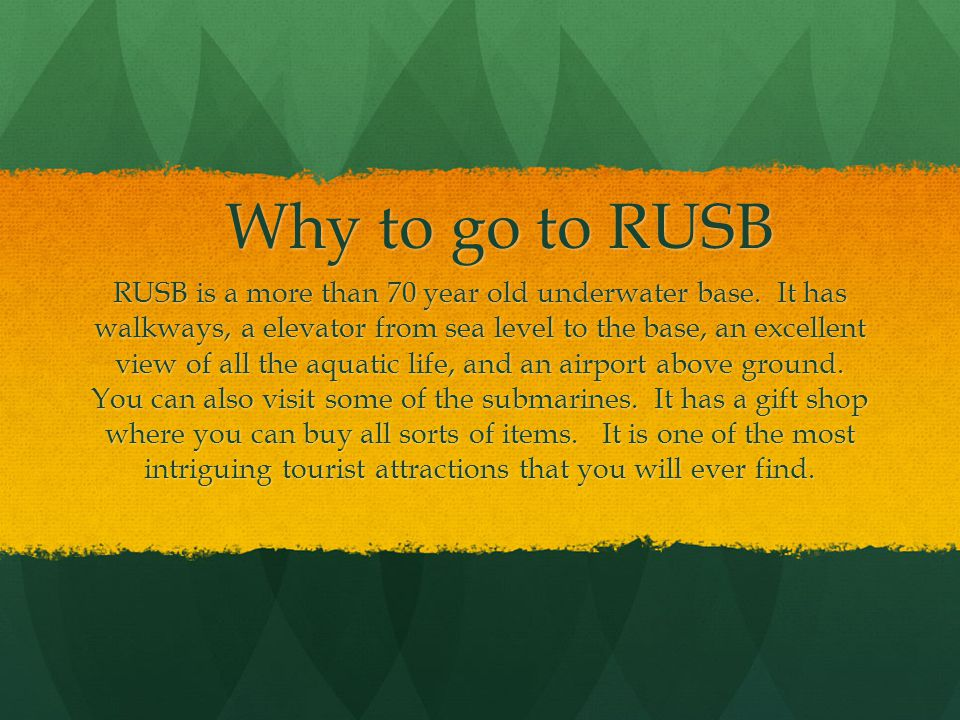 Credits John Wang Designed RUSB Built RUSB Made the Why to go to RUSB Moral support Oskar Bonde History Found the measures of RUSB Designed the slide show Moral support Thanks to Google We wouldnt have made it with out you