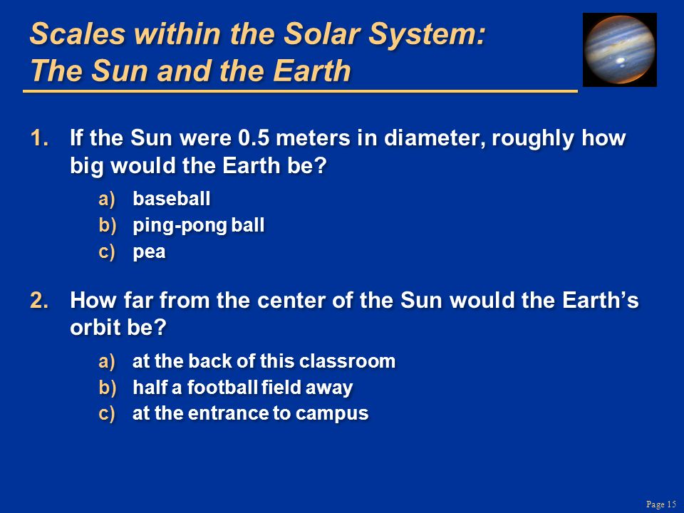 Page 15 Scales within the Solar System: The Sun and the Earth 1.