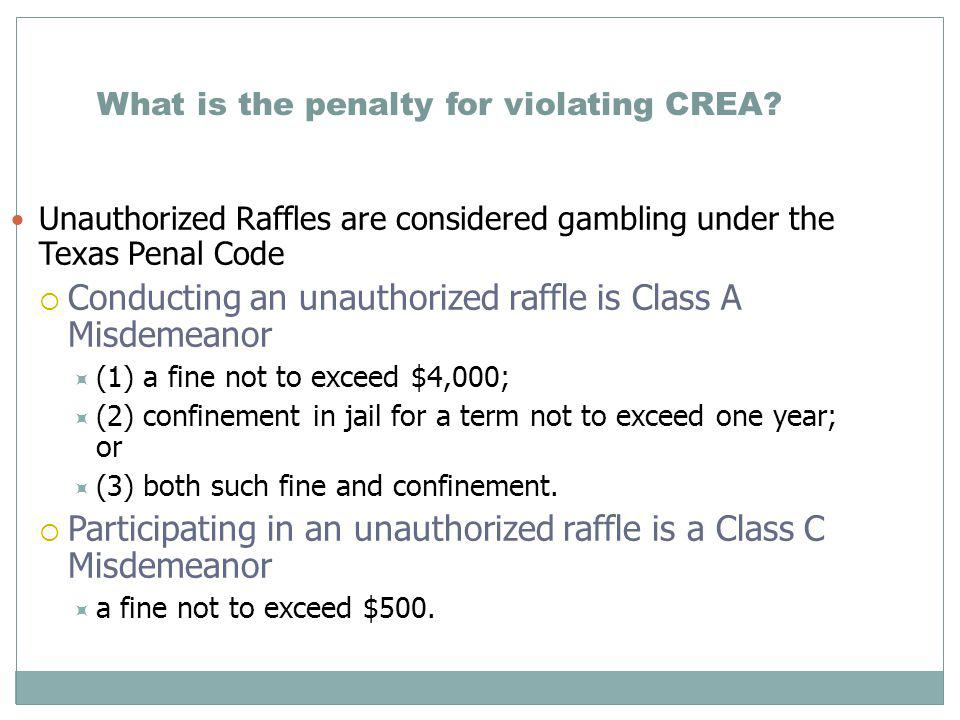 What is the penalty for violating CREA.