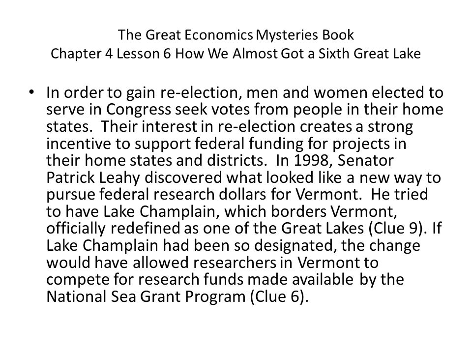 In order to gain re-election, men and women elected to serve in Congress seek votes from people in their home states. Their interest in re-election cr