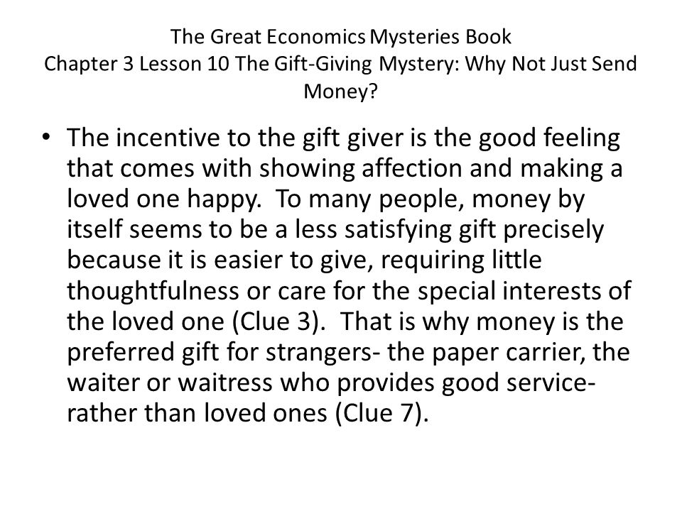 The Great Economics Mysteries Book Chapter 3 Lesson 13 Whats in a Name?